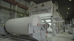 Large machine running in factory Footage