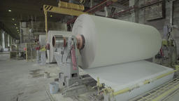 Large paper roll factory-turning machine Footage