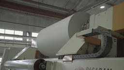Machine with paper rotates during production Footage