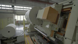 Massive machine rotates during the production process Footage