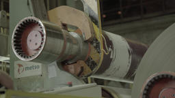 Part of the working machine in the factory Footage