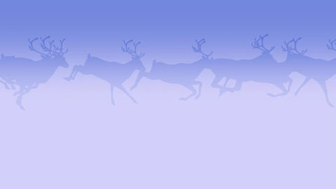 Deer Herd - Run Loop - Dark Blue Animation
