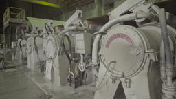 The machines work inside the plant Footage