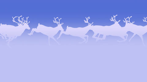 Reindeer Herd - Run Loop - Light Blue Animation