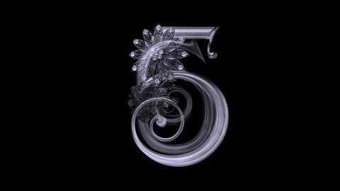 Elegant Countdown - II - Alpha Channel Animation