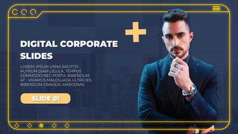 Digital Corporate Slides After Effects Template