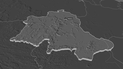 Potaro-Siparuni extruded. Guyana. Stereographic bilevel map Animation