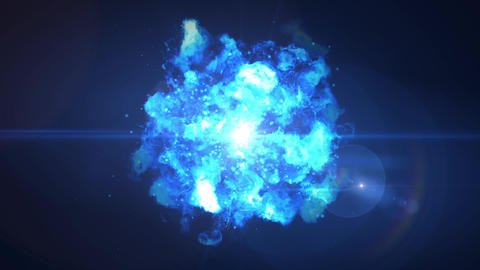 blue explosion fire particle loop animation Animation