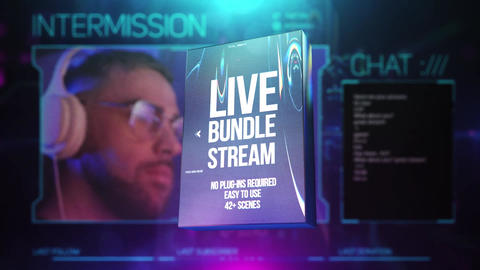 Live Stream Bundle After Effects Template
