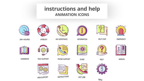 Instructions & Help - Animation Icons After Effects Template
