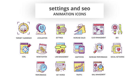 Settings & Seo - Animation Icons After Effects Template