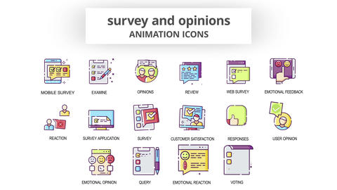 Survey & Opinions - Animation Icons After Effects Template