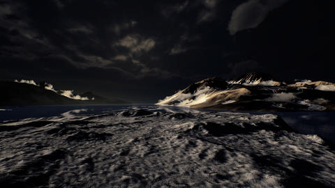 Dramatic landscape in Antarctica with storm coming Live Action