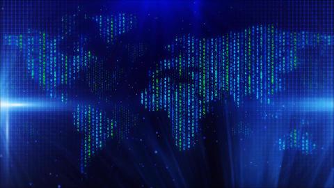 Digital matrix world map 動畫