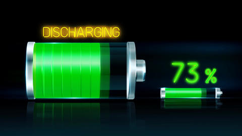Battery discharging Display Animation