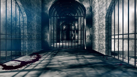 Creepy Haunted Prison Corridor Animation