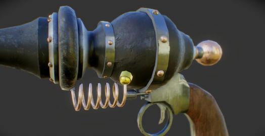 Western ray gun 3D Model