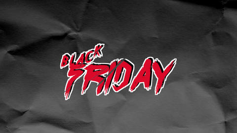 Animation intro text Black Friday on black hipster and grunge paper background Animation