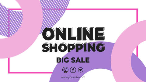Online Shopping After Effects Template