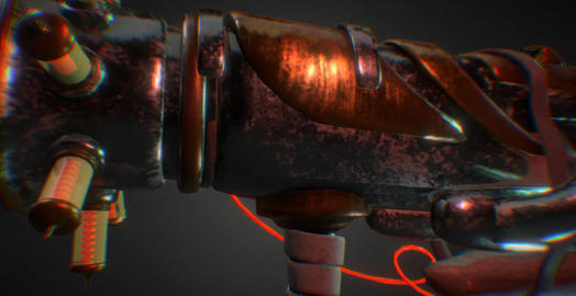 Steampunk shotgun 3D Model