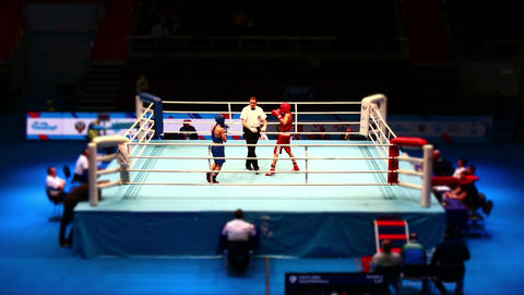 boxing fight in the ring Time Lapse Footage