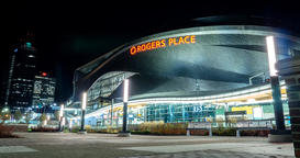 Motion Timelapse of Rogers Place in Edmonton Alberta Footage