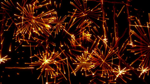 Fireworks only Orange Stock Video Footage