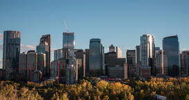 Hyperlapse of Calgary skyline in late afternoon Footage