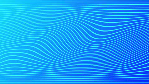 2d animation of rows and rows of colorful blue stripes rippling. Colorful wave Live Action