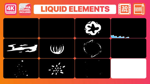 Liquid Elements And Titles After Effects Template