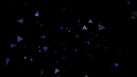 Triangle Effect Blue After Effects Template