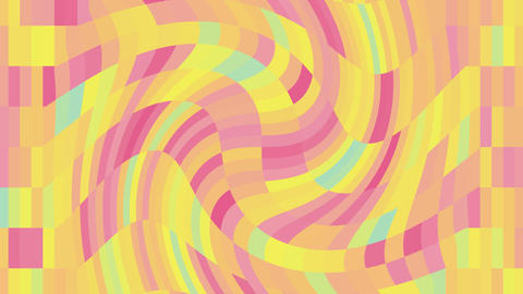 Abstract colorful shapes swirl background.Motion background mosaic Animation