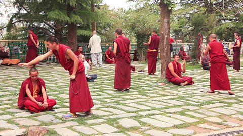 Monks Practice Footage
