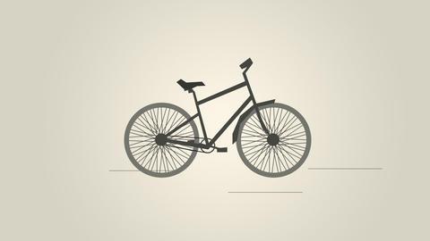 Retro bicycle Animation