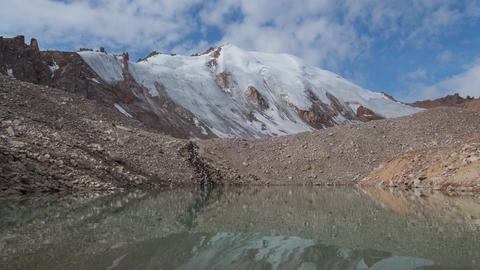 Glacier Lake Reflection Time Lapse 4K, Stock Animation