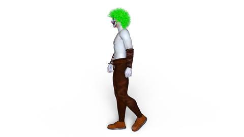 Clown Walk Animation