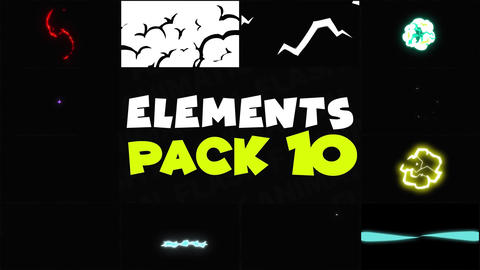 Flash FX Elements Pack 10 Apple Motion Template