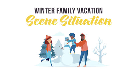 Winter family vacation - Scene Situation After Effects Template