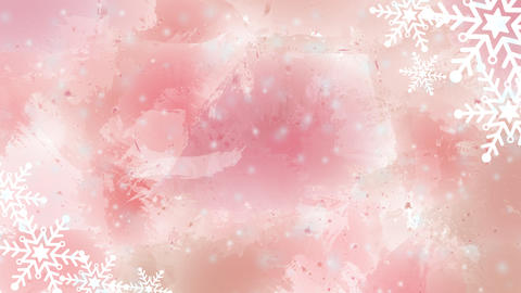 Cute Winter Background Pink Animation