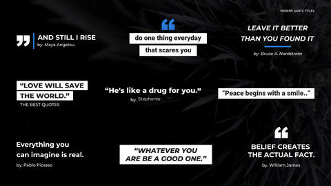 Quote Titles After Effects Template