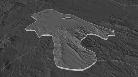Lozovo extruded. Macedonia. Stereographic bilevel map Animation