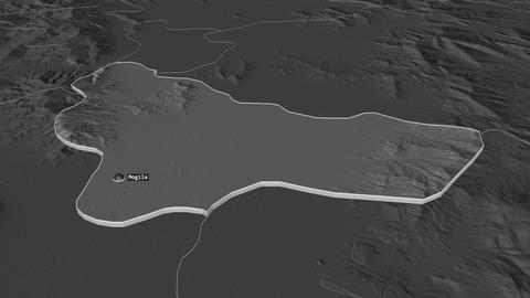 Mogila extruded. Macedonia. Stereographic bilevel map Animation