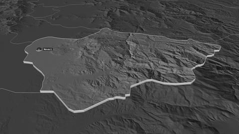 Novatsi extruded. Macedonia. Stereographic bilevel map Animation
