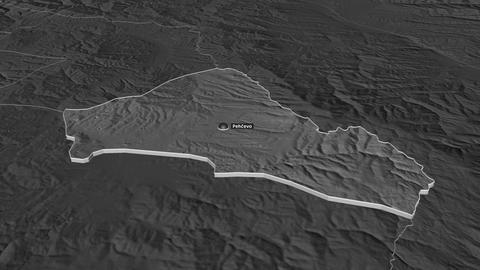Pehecevo extruded. Macedonia. Stereographic bilevel map Animation