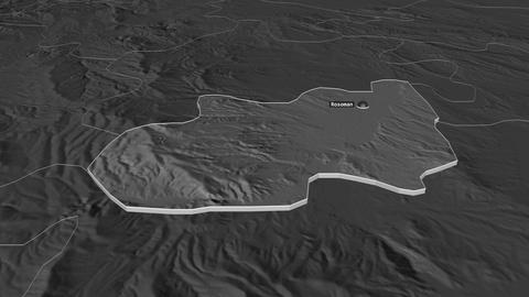 Rosoman extruded. Macedonia. Stereographic bilevel map Animation