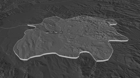 Staro Nagoricane extruded. Macedonia. Stereographic bilevel map Animation