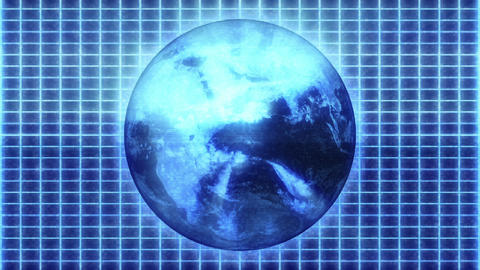 Hologram Earth Animation