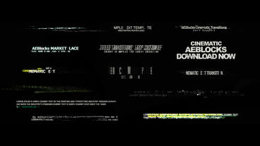 Cinematic Glitch Titles 2 After Effects Project
