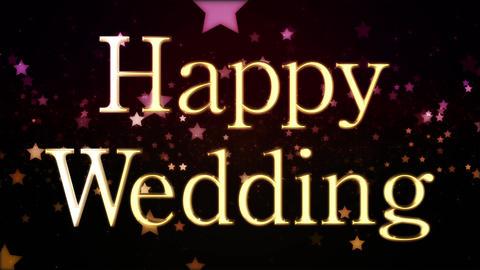 happy wedding message title CG動画