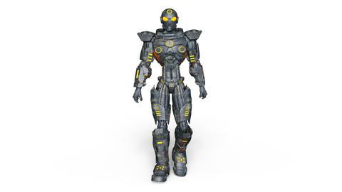 UHD-Robot Walk CG動画素材